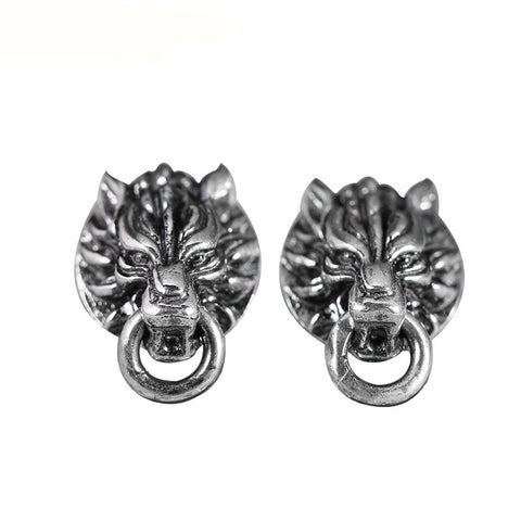 Majestic Wolf Earrings - The Skull Crown - Express Yourself With Bold Jewelry