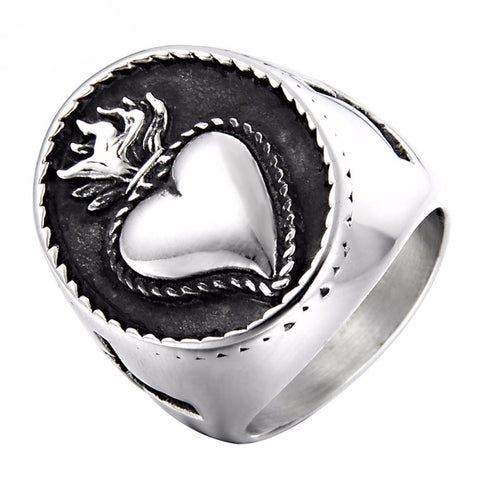 Flaming Heart Ring - The Skull Crown - Express Yourself With Bold Jewelry