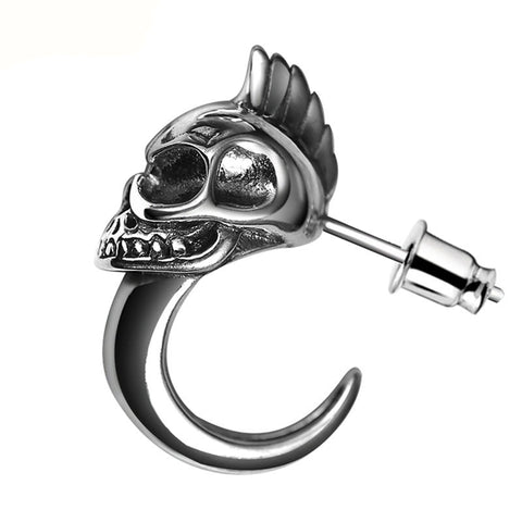 Skull Rider Earrings - The Skull Crown - Express Yourself With Bold Jewelry