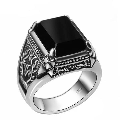 Dark Onyx Ring - The Skull Crown - Express Yourself With Bold Jewelry