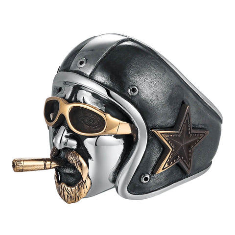 Vintage Rider Ring - The Skull Crown - Express Yourself With Bold Jewelry