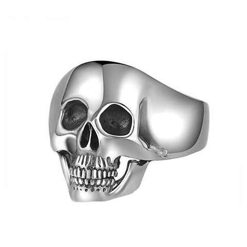 Polished Skull Ring - The Skull Crown - Express Yourself With Bold Jewelry