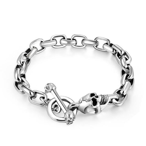 Skull Link Bracelet - The Skull Crown - Express Yourself With Bold Jewelry