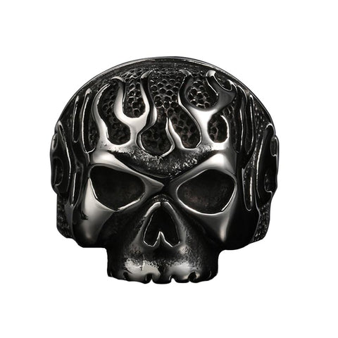 Flaming Skull Ring - The Skull Crown - Express Yourself With Bold Jewelry