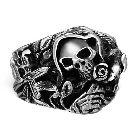 Mourning Skull Ring - The Skull Crown - Express Yourself With Bold Jewelry