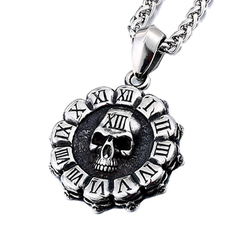 Time Skull Necklace - The Skull Crown - Express Yourself With Bold Jewelry
