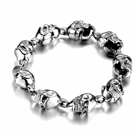 Linked Skull Bracelet - The Skull Crown - Express Yourself With Bold Jewelry