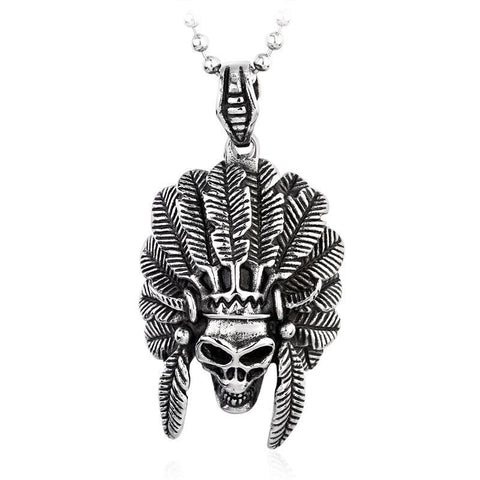 Skull Tribe Necklace - The Skull Crown - Express Yourself With Bold Jewelry