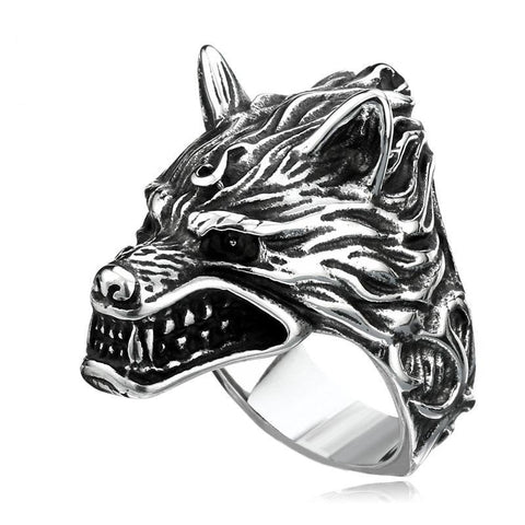 Raging Wolf Ring - The Skull Crown - Express Yourself With Bold Jewelry