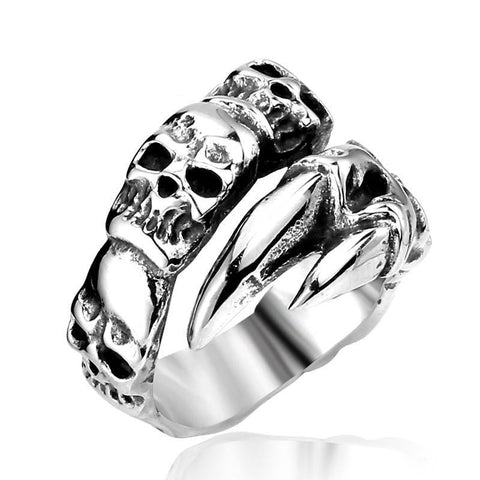 Stacked Skull Claw Ring - The Skull Crown - Express Yourself With Bold Jewelry