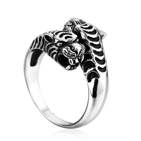 Twin Tiger Ring - The Skull Crown - Express Yourself With Bold Jewelry