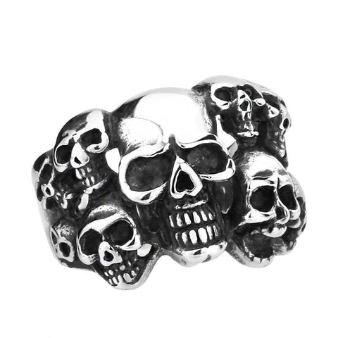 Trapped Skulls Ring - The Skull Crown - Express Yourself With Bold Jewelry