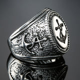 Frosty Anchor Ring - The Skull Crown - Express Yourself With Bold Jewelry