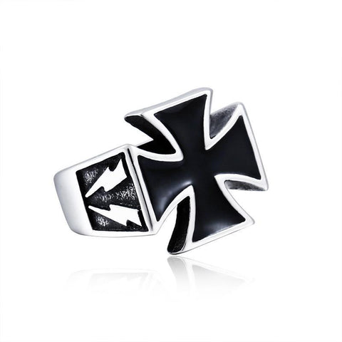 Bolt Cross Ring - The Skull Crown - Express Yourself With Bold Jewelry