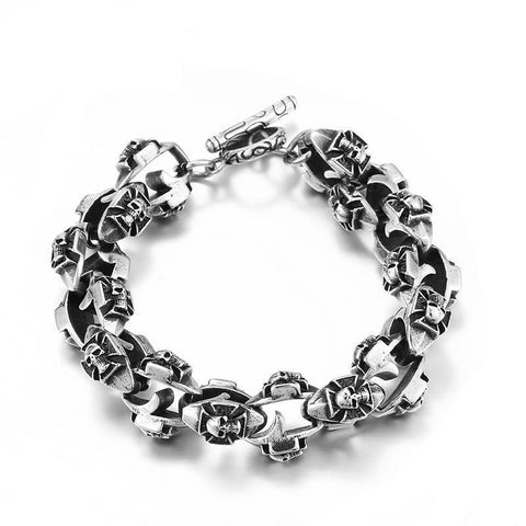 Skull Crusader Bracelet - The Skull Crown - Express Yourself With Bold Jewelry
