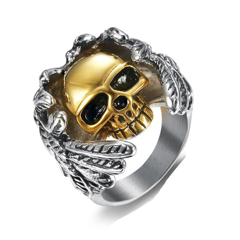 Angelic Skull Ring - The Skull Crown - Express Yourself With Bold Jewelry