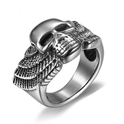 Skull Winged Ring - The Skull Crown - Express Yourself With Bold Jewelry