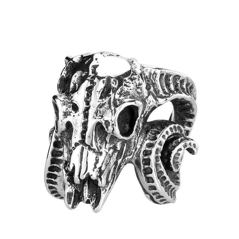 Ram Skull Ring - The Skull Crown - Express Yourself With Bold Jewelry