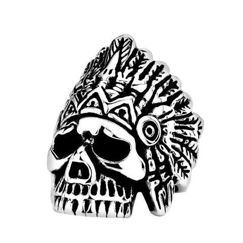 Chief Skull Ring - The Skull Crown - Express Yourself With Bold Jewelry