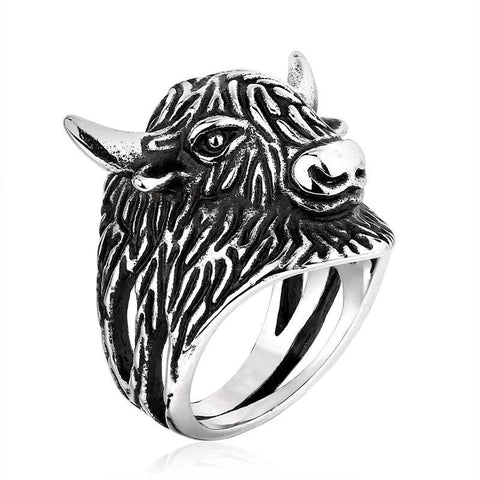 Big Bull Ring - The Skull Crown - Express Yourself With Bold Jewelry
