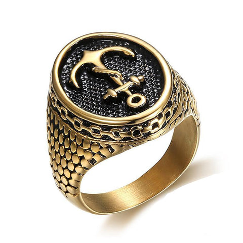Signet Anchor Ring - The Skull Crown - Express Yourself With Bold Jewelry