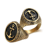 Signet Gold Anchor Ring - The Skull Crown - Express Yourself With Bold Jewelry