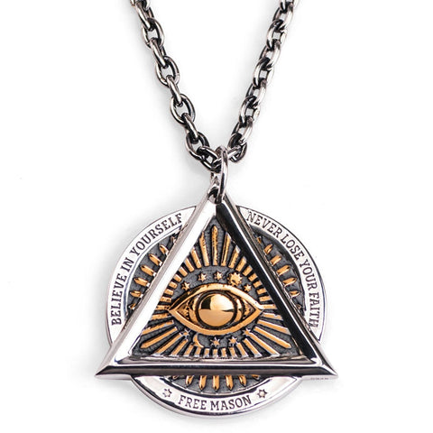 All Seeing Eye Necklace - The Skull Crown - Express Yourself With Bold Jewelry