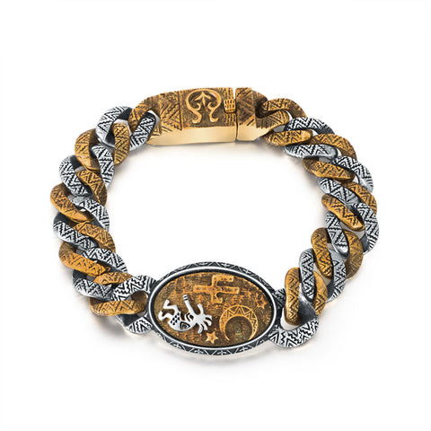 Ancient Indian Bracelet - The Skull Crown - Express Yourself With Bold Jewelry