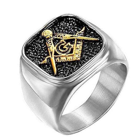 Retro Masons Ring - The Skull Crown - Express Yourself With Bold Jewelry