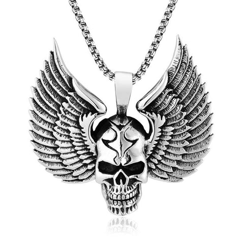 Skull Angel Necklace - The Skull Crown - Express Yourself With Bold Jewelry