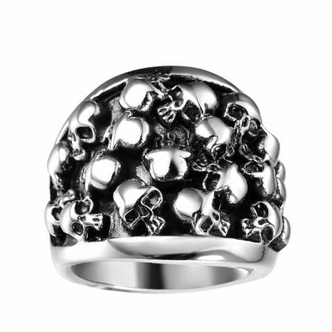 Filled With Skulls Ring - The Skull Crown - Express Yourself With Bold Jewelry