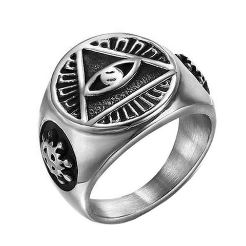 Eye Of Masons Ring - The Skull Crown - Express Yourself With Bold Jewelry