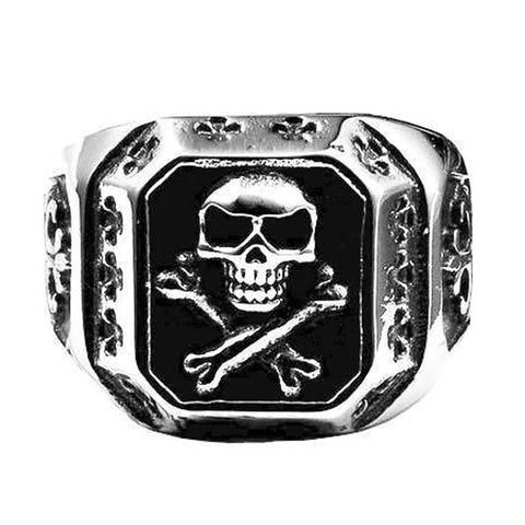Silver Rebel Skull Ring - The Skull Crown - Express Yourself With Bold Jewelry