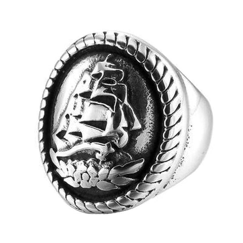 Signet Ship Ring - The Skull Crown - Express Yourself With Bold Jewelry