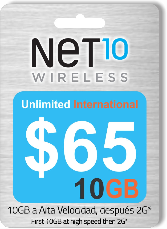 Net10 $65 Plan Mensual