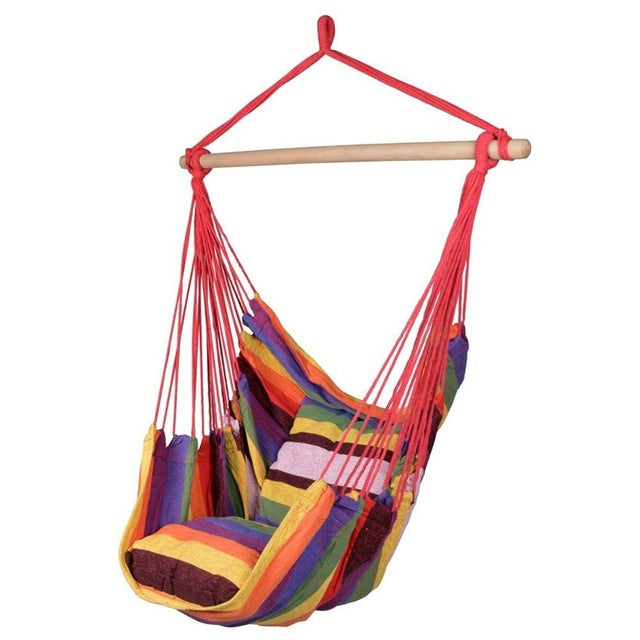 New Hammock Chair Hanging Chair Swing Chair Seat With 2 Pillows