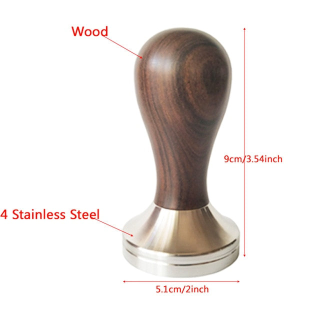 Aluminium Alloy 51mm Tamper Handmade Coffee Pressed Powder Hammer Espresso Maker Cafe Barista Tools Machine Accessories