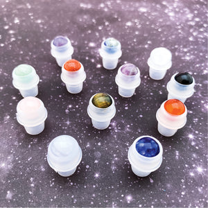 Gemstone Rollerball Tops (12 pack)