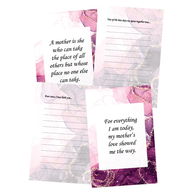 """Mom, Have I Told You"" Journal - Pink Glitter Cover"