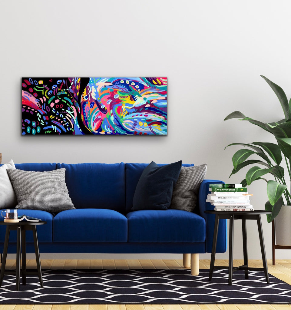 """Night & Day"" - 16 x 40"" Original Painting on Canvas"