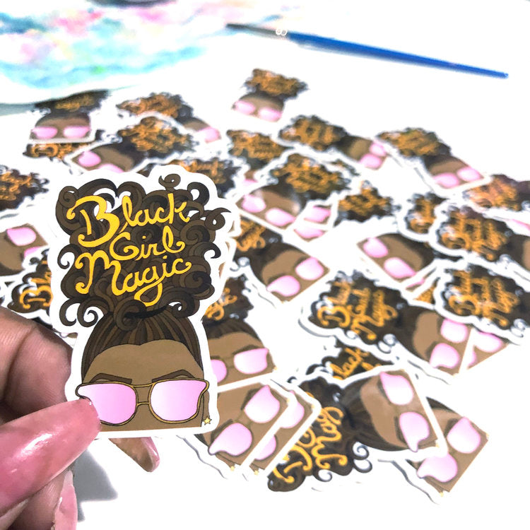 3 Pack Black Girl Magic Stickers