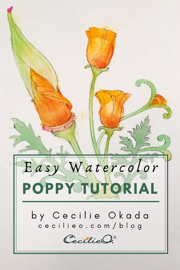 Easy Watercolor Tutorial- Vibrant Poppy Flowers