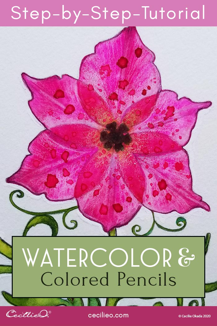 How to Watercolor Transparent Flowers: