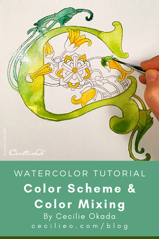 Green Color Scheme for Illuminated Letter C