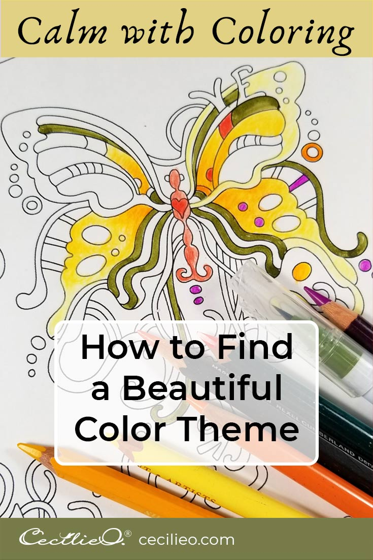 Calm with Coloring: How to Find a Beautiful Color Theme
