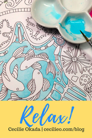 Watercolor for Coloring Wall Calendar