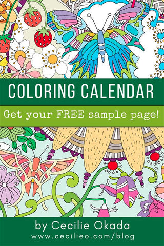Relax with 2019 Coloring Calendar