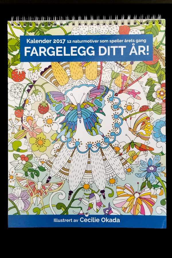 Coloring Calendar Published in Norway