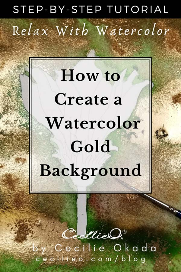 How to Create a Stunning Watercolor Gold Paint Background