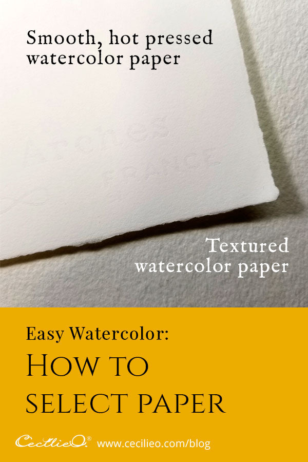 Smooth, textured or plain sketching paper for watercolor painting?
